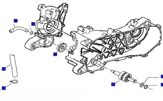 Gilera Runner 50 Pure Jet (UK) Cooler Pump