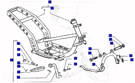Gilera Runner 200 VXR Chasis-central Stand