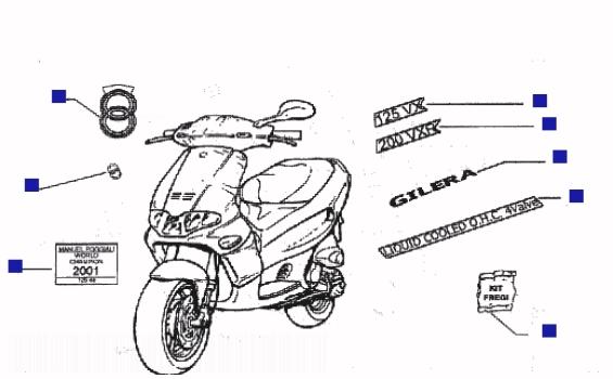 Gilera Runner 200 VXR Emblems