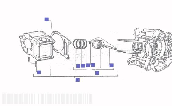Gilera Runner 200 VXR Cylinder Piston Wrist Pin Assy