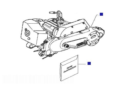 Piaggio Liberty 50 2T Sport (UK) Engine
