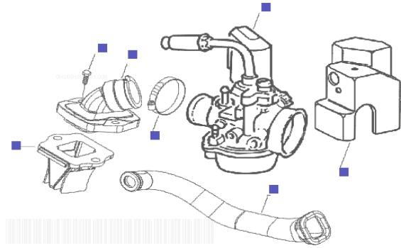 Piaggio Liberty 50 2t Carburettor