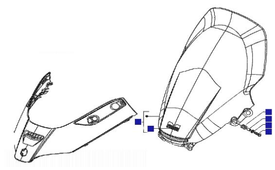 Piaggio X8 250 ie Windscreen