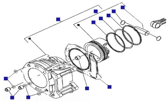 Piaggio X8 250 ie Cylinder-piston-wrist Pin Unit
