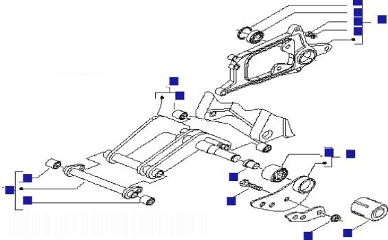 Piaggio X8 125 (UK) Swinging Arm