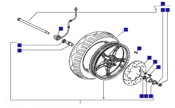 Piaggio Zip 100 4T Front Wheel