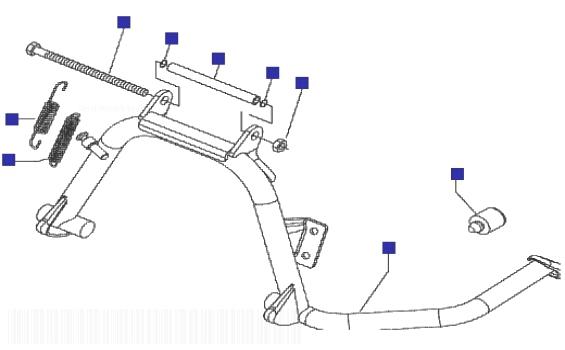 Piaggio X7 125 ie (Euro 3) Stand