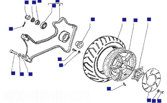 Piaggio X9 125 Rear Wheel