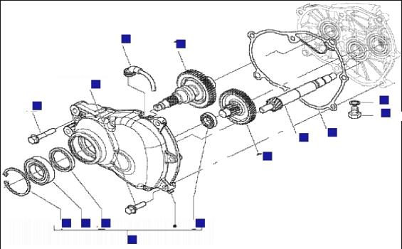 Piaggio X9 125 Evo (Euro 3) (UK) Reduction Unit