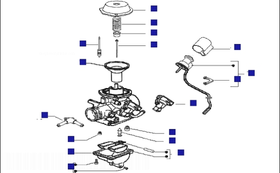 Piaggio X9 125 Evo (Euro 3) (UK) Carburetor Components