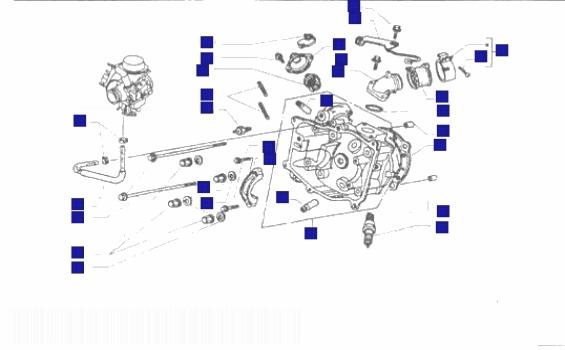 Piaggio X9 250 Honda engine Cylinder Head