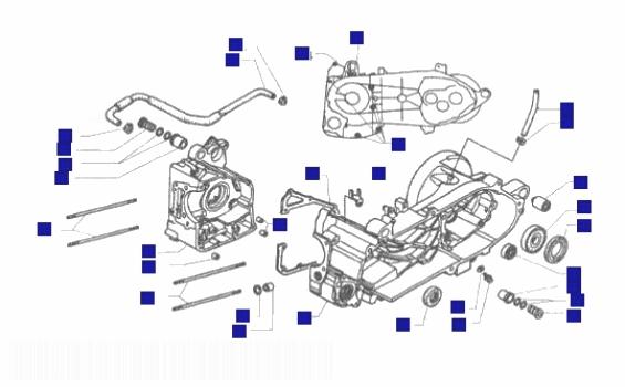 Piaggio X9 250 Honda engine Crank Case
