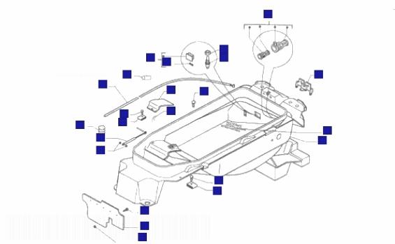 Piaggio X9 250 Honda engine Helmet Carrier