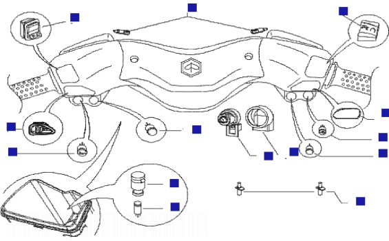 Piaggio X8 400 ie (Euro 3) (UK) Switches