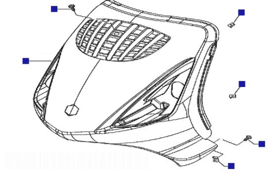 Piaggio Zip 50 4T Front Shield