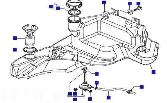 Piaggio Zip 50 4T Fuel Tank