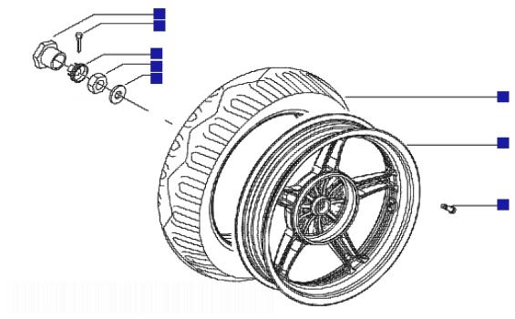 Piaggio Zip 50 4T Rear Wheel