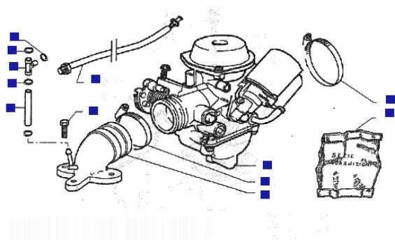 Piaggio Beverly 125 (B125) Carburettor