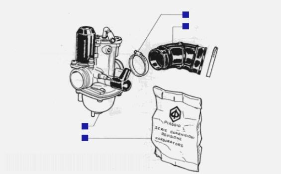 Piaggio Hexagon 125 Carburettor