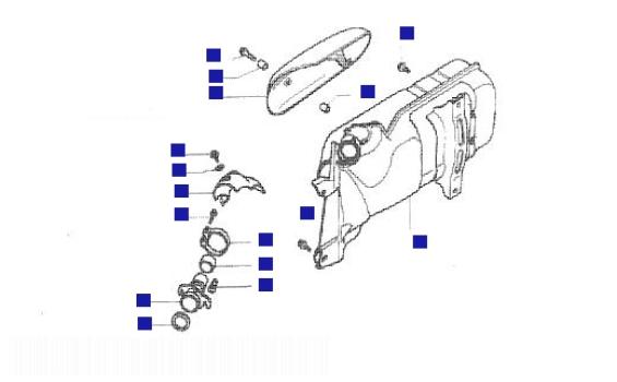 Piaggio Hexagon 250 GT Silencer