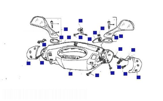 Piaggio Hexagon 250 GT Handlebars/Mirror Cover