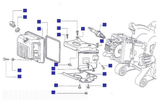 Piaggio Liberty 125 Cylinder Head Cover