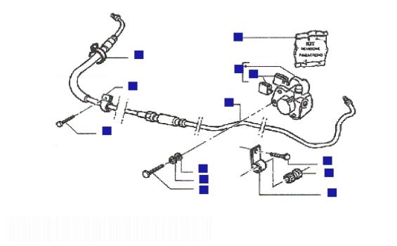 Piaggio NRG mc3 (H2O) Rear Caliper