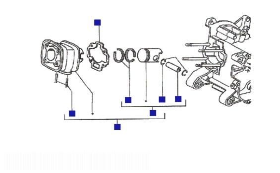 Piaggio NRG mc3 (H2O) Cylinder-wrist