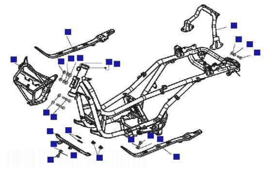 Piaggio X8 125 Chassis
