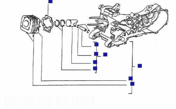 Piaggio Liberty 50 MY Cylinder Piston Writs Pin Assy