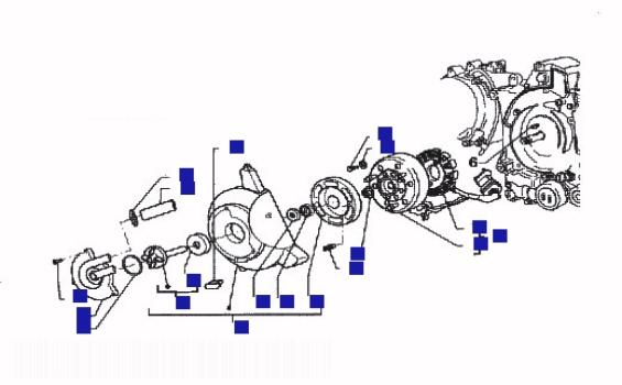 Piaggio Hexagon 125 GTX Ser 1 Flywheel Magneto
