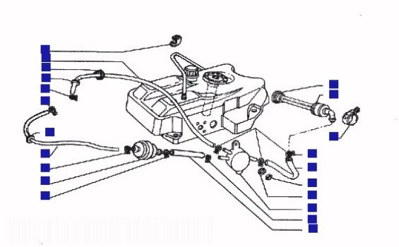 Piaggio Hexagon 125 GTX Ser 1 Fuel Pump