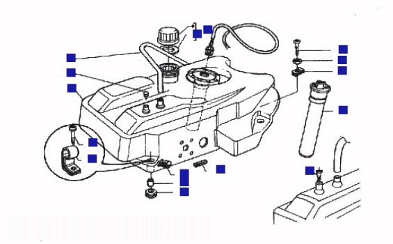 Piaggio Hexagon 180 GTX Ser 2 Fuel Tank