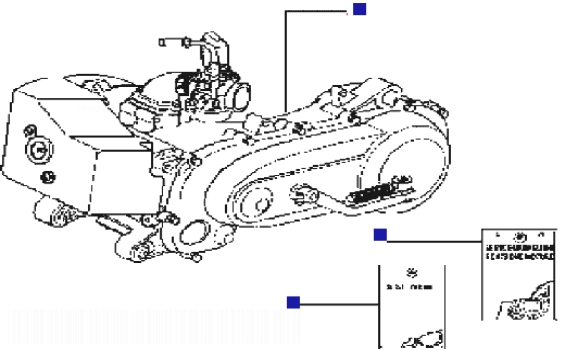 Piaggio Typhoon 50 rst (Gilera Storm) Engine