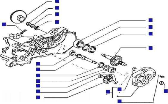 Piaggio Typhoon 50 rst Rear Wheel Shaft