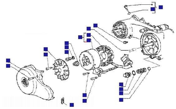 Piaggio Liberty 50 4T Flywheel Magneto
