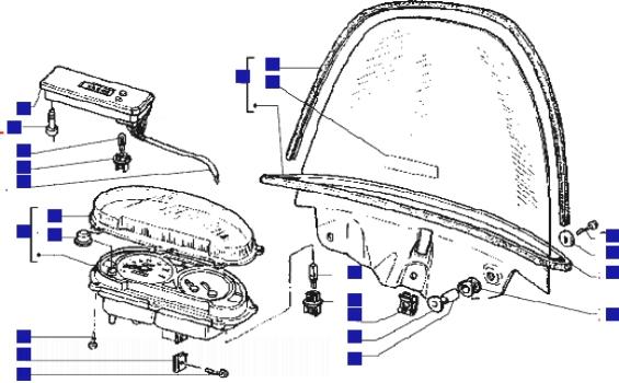 Piaggio Hexagon 125 GTX Ser 2 Speedometer (kms)-windshield