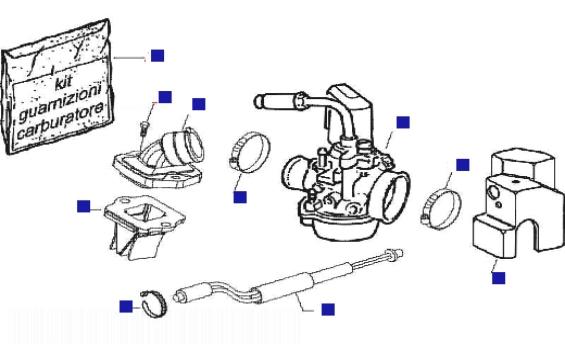Piaggio NRG Power AC DT (UK) Carburettor