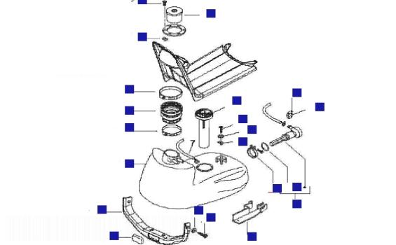 Piaggio NRG Power AC DT (UK) Fuel Tank