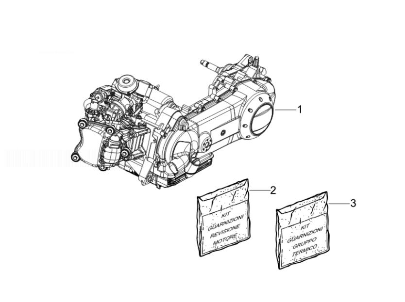 Gilera Runner 125 VX 4T RACE (EURO 3) (UK) Engine, Assembly
