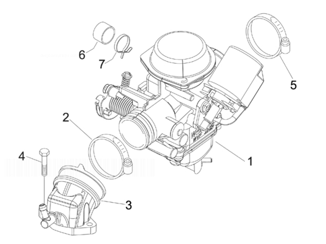 Gilera Runner 200 VXR 4T RACE (EURO 3) Carburettor