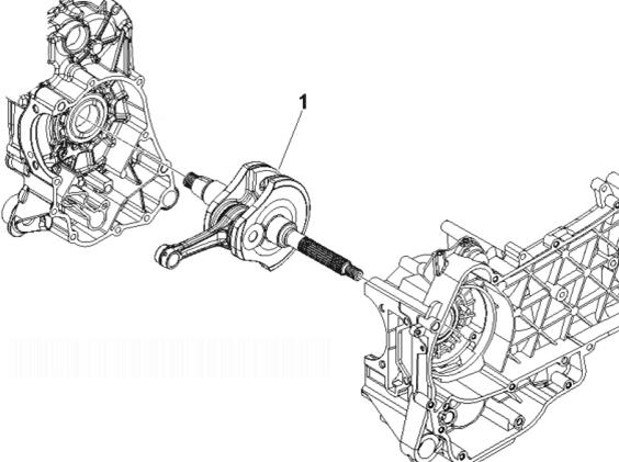 Vespa S150 4T IE (Euro 3) Crankshaft