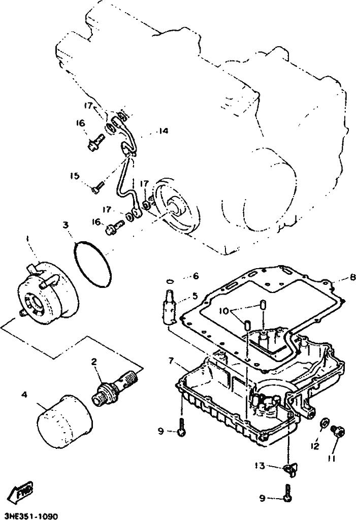YAMAHA FZR600 GENESIS Oil Cooler