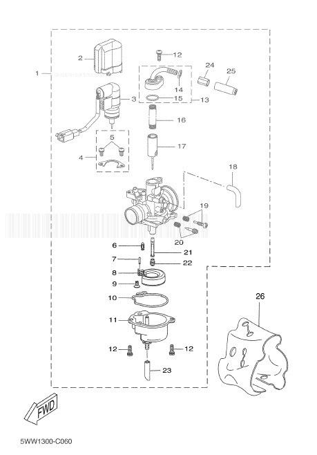 YAMAHA CW50 BWS Carburetor