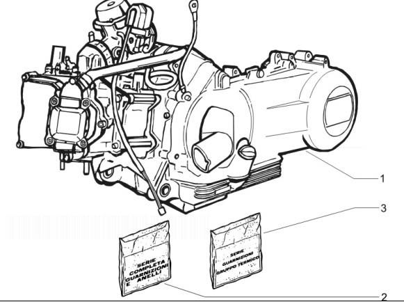 Piaggio Beverly 250 ie Sport (Euro 3) Engine, Assembly
