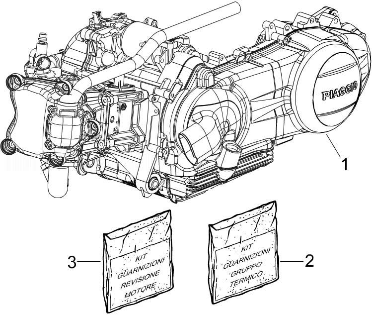 Piaggio Beverly 300 ie Tourer (Euro 3) Engine