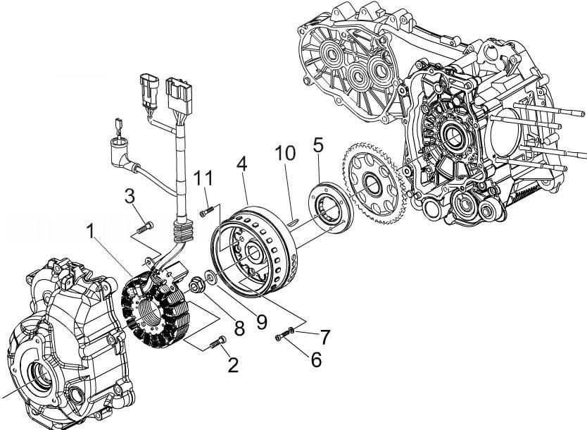 Piaggio Beverly 300 ie Tourer (Euro 3) Flywheel Magneto
