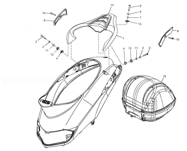 Piaggio Liberty 50 4T MOC-Elle Rear Luggage Rack