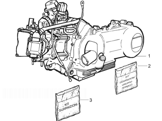 Vespa LX150 4T (EURO 3) Engine, Assembly
