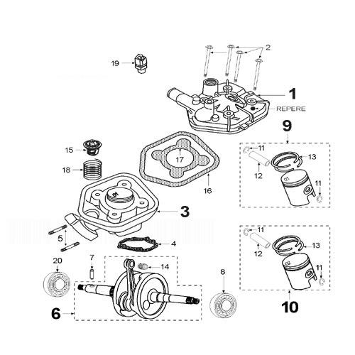 PEUGEOT SPEEDFIGHT 2 50 LR ULTIMATE Crankshaft And Cylinder